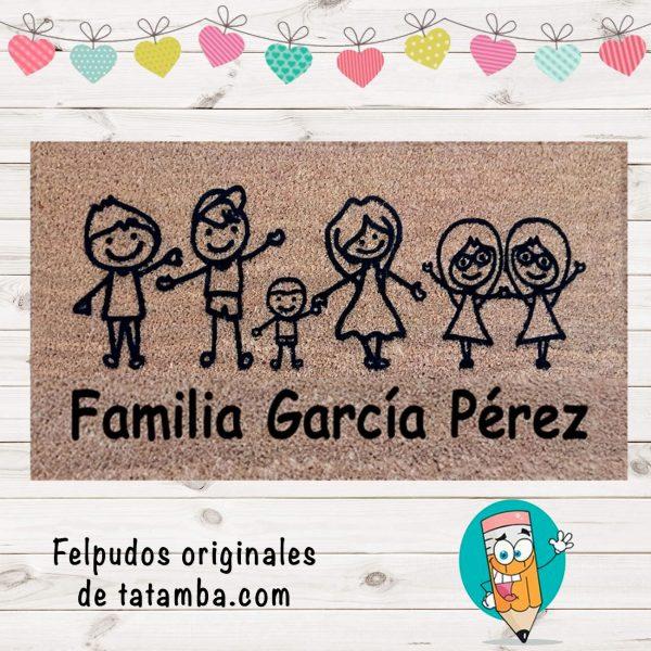 Felpudo Familia Personalizada