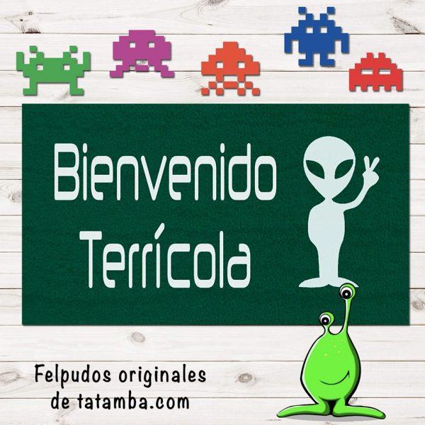 Felpudo Alien Verde